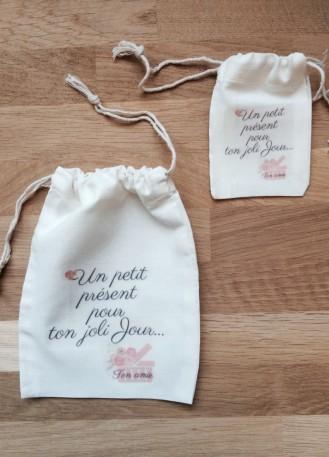 Pochon, sac en coton personnalisé pour emballage cadeau bijoux