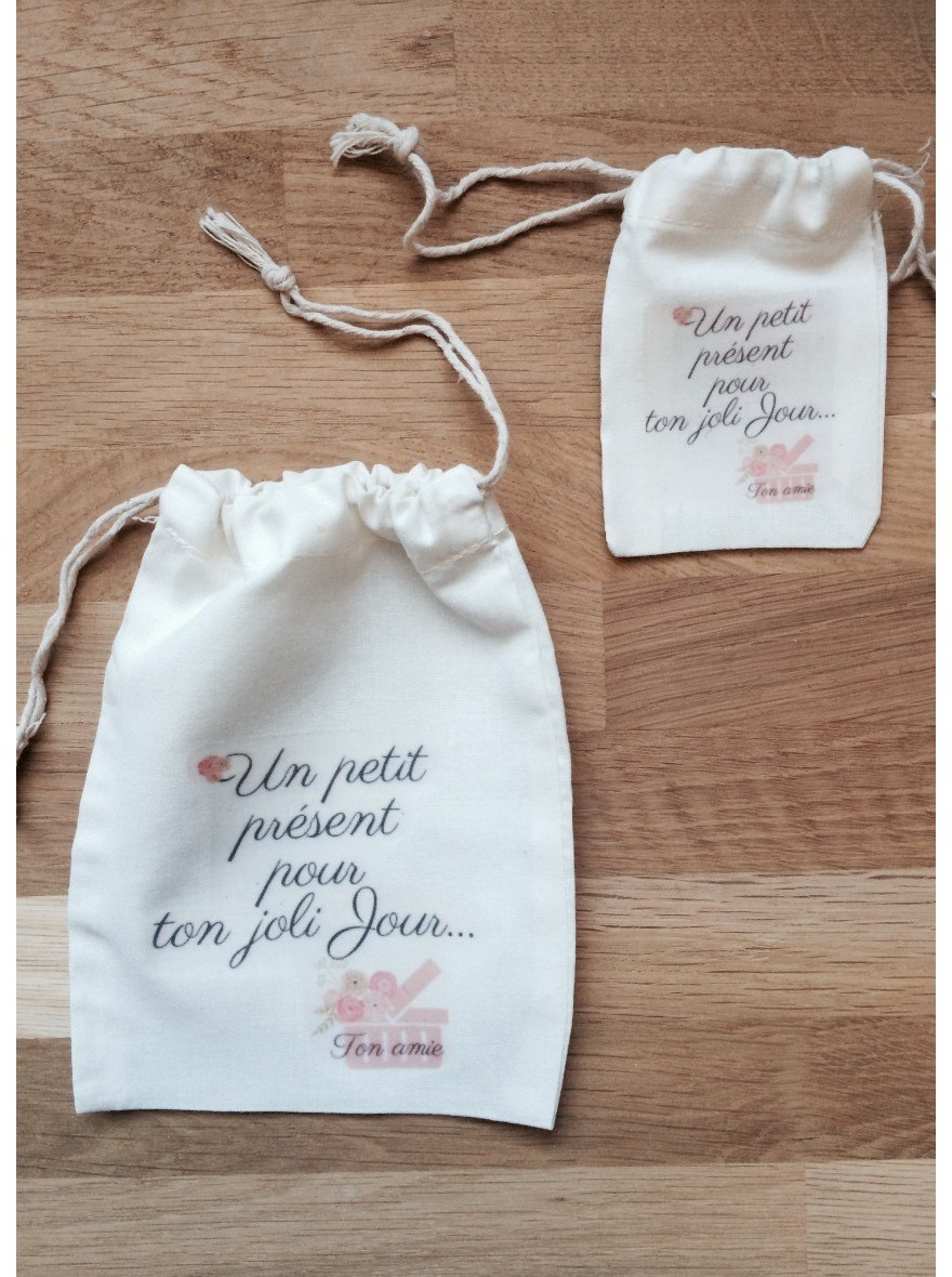 Extrêmement Pochon, sac en coton personnalisé pour emballage cadeau bijoux  IN81