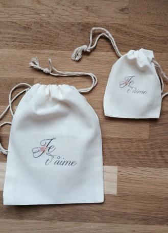 Pochon, sac en coton personnalisé pour emballage cadeau St Valentin