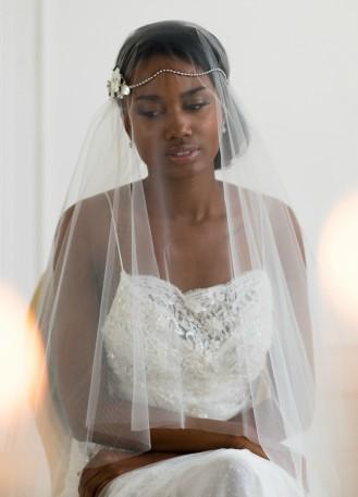 voiles mari e bonnet en dentelle et voilettes pour mariage r tro ou boh me so h lo. Black Bedroom Furniture Sets. Home Design Ideas
