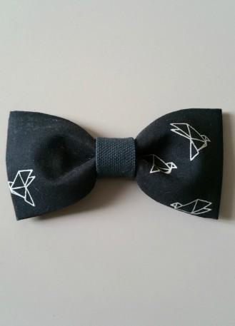 """Noeud papillon """"Guillaume"""" avec tissus aux motifs cocottes origami"""