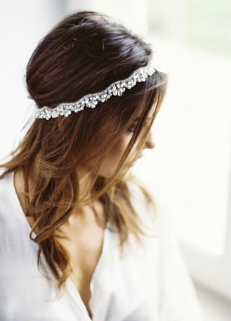 """Natacha"" Headband de mariée au motif strassé"