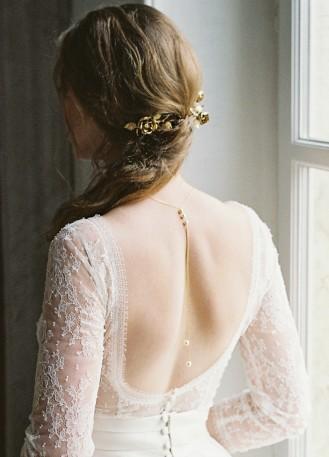 """Trio de pics de mariée """"Rosie"""" avec rose et perles nacrées"""