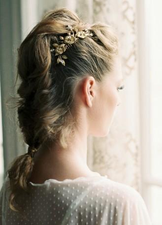 """Peigne de mariée """"Candice"""" avec fleurs et cristaux swarovski"""