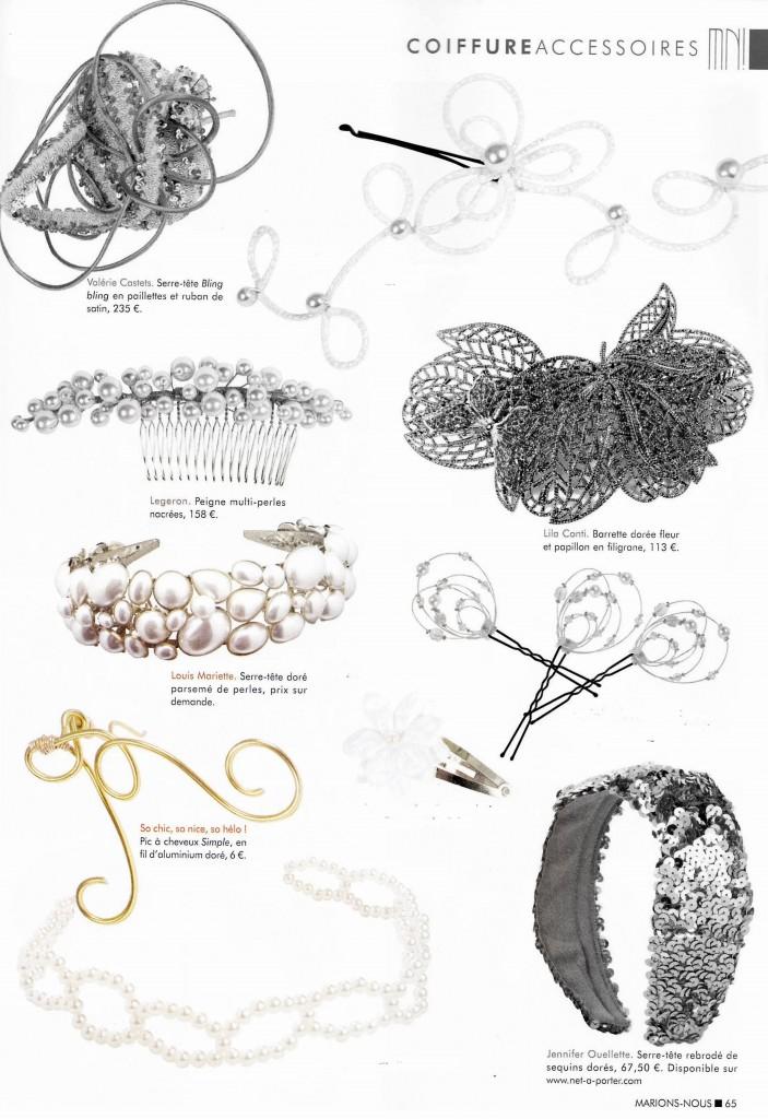 parution de nos bijoux mariage dans le magazine Marions Nous