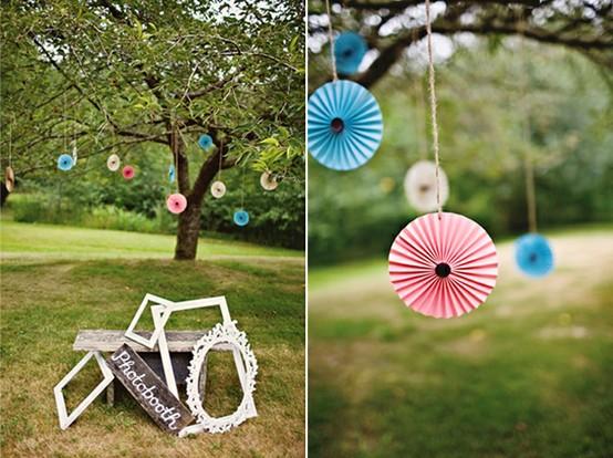 décoration mariage suspension papier