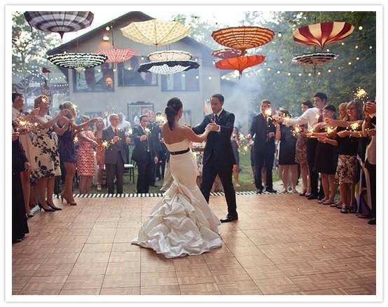 décoration mariage parapluie