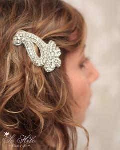 accessoire cheveux pour mariée Rétro en cristal