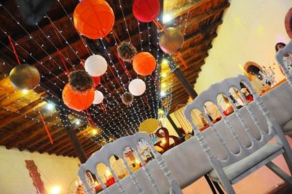 décor plafond mariage
