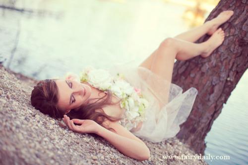 Robe de mariée romantique à fleurs