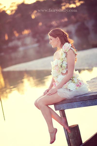 Robe de mariée confidentiel créations à fleurs