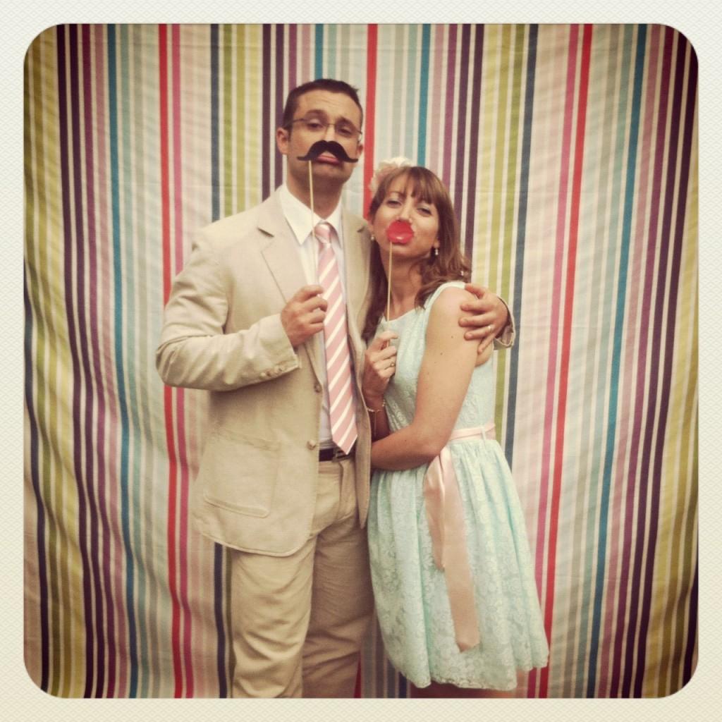 Photobooth mariage couple rétro