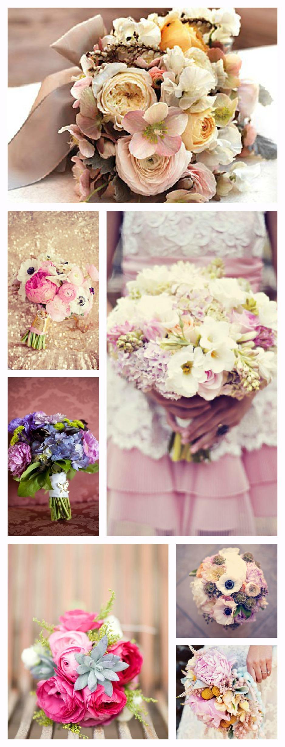 Jolis bouquets de mariées originaux, colorés et romantiques