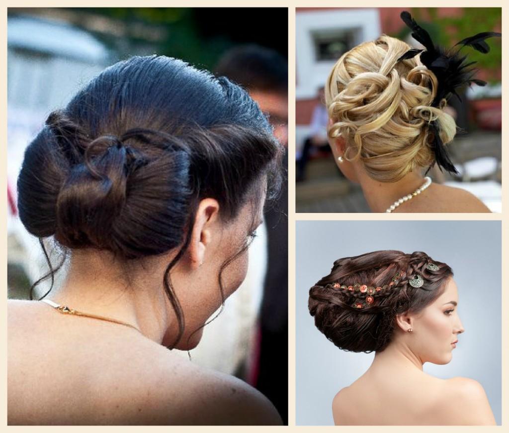 Coiffures mariées sophistiquées avec noeud