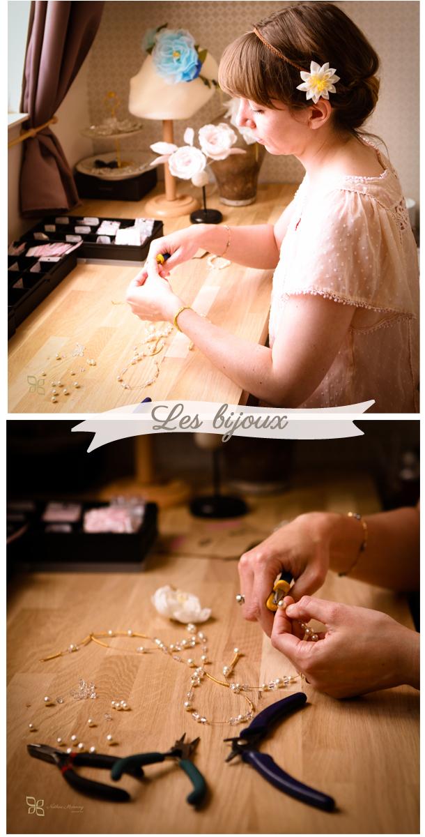 La confection de bijoux en perles et cristal