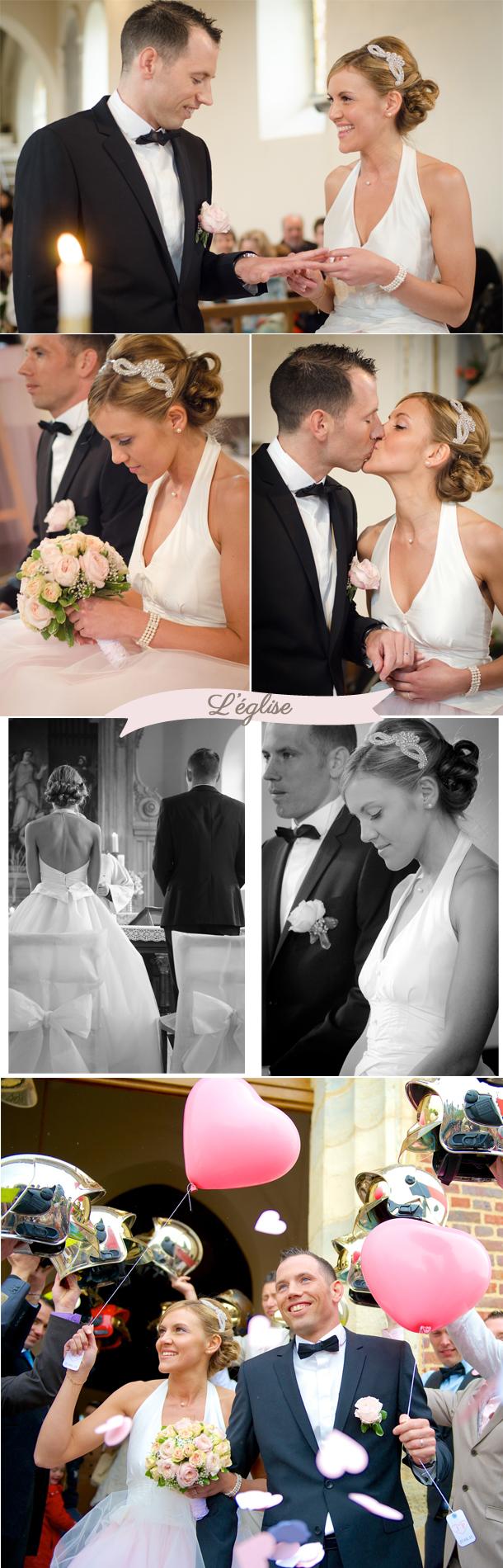 église mariage rétro Julie