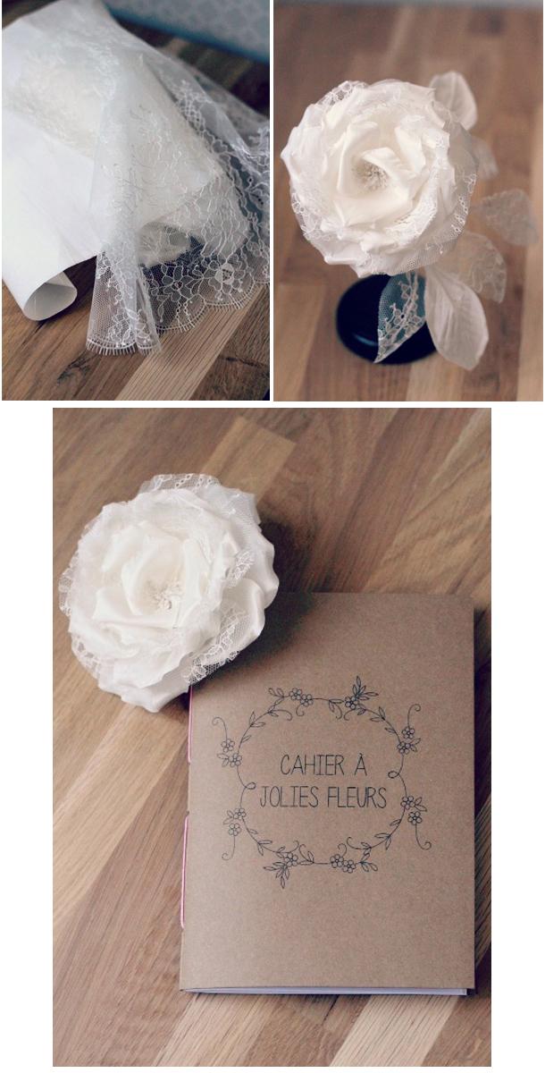 Ornement fleurs de soie et dentelle pour robe de mari e for Robes de fleurs pour les mariages