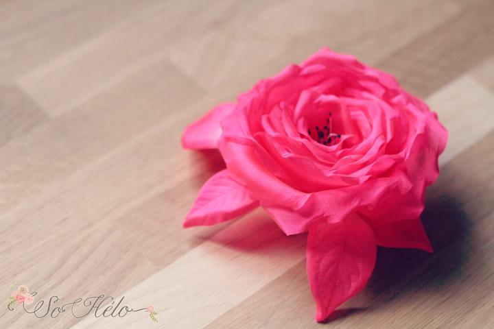 rose en soie accessoire cheveux mariage