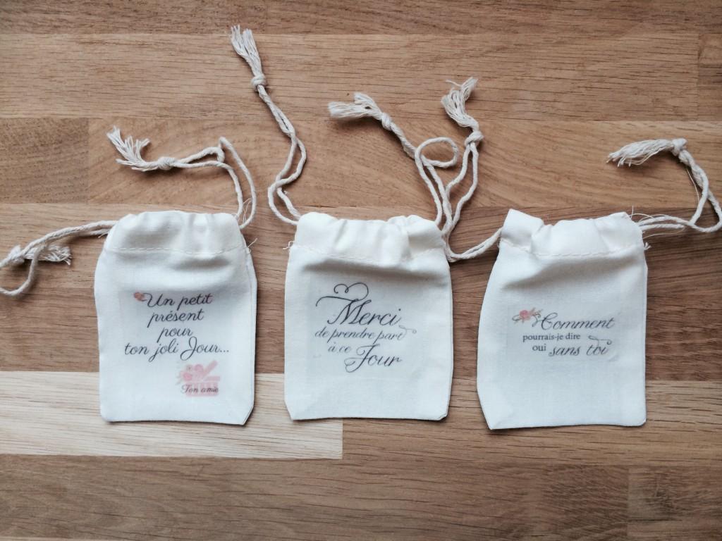 pochons sacs coton emballage bijoux mariée