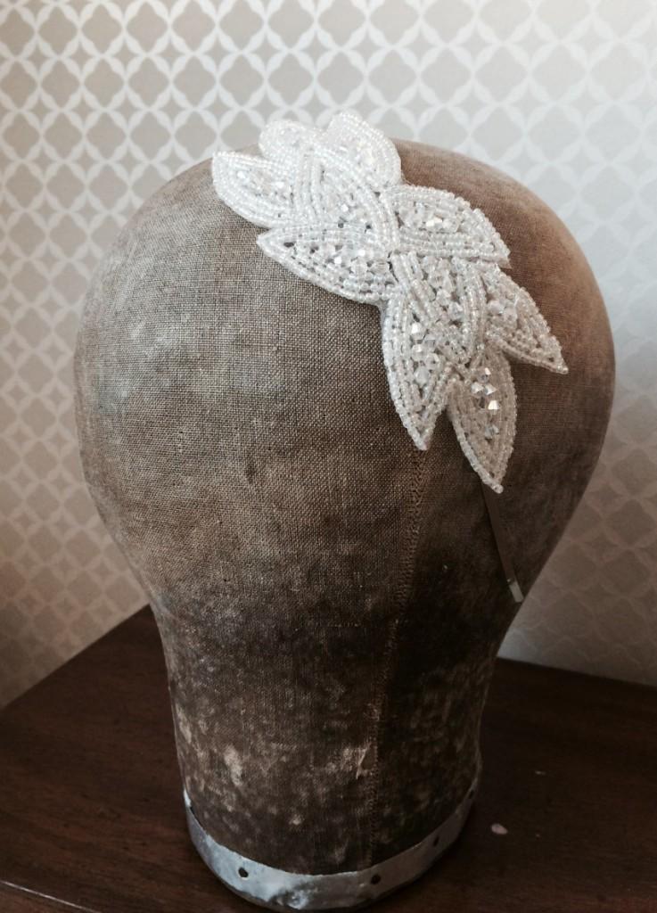 serre tête headband mariée Clothilde ivoire