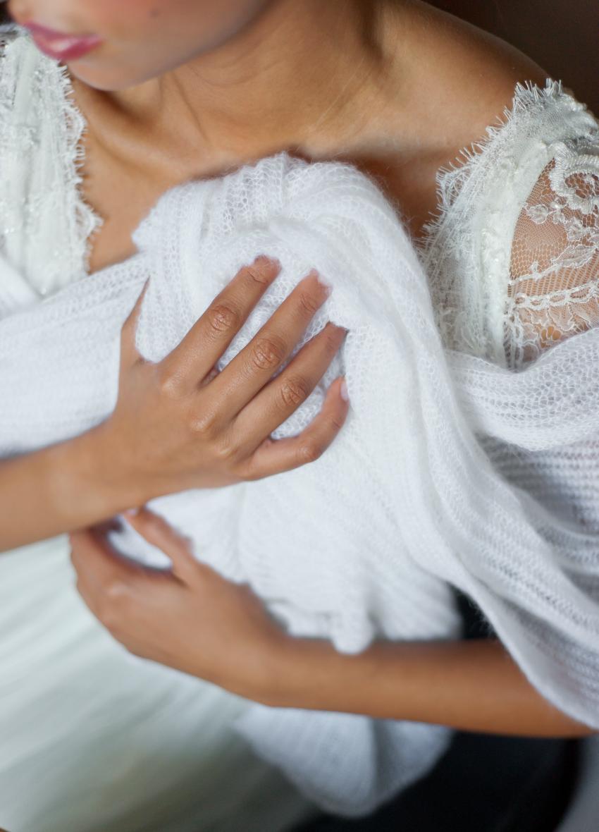 Tole mariage le blog d 39 h lo se bijoux de mari e conseils d corations et tendances pour la - Etole mariage hiver ...
