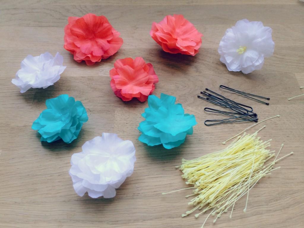 fleurs en soie et pistils