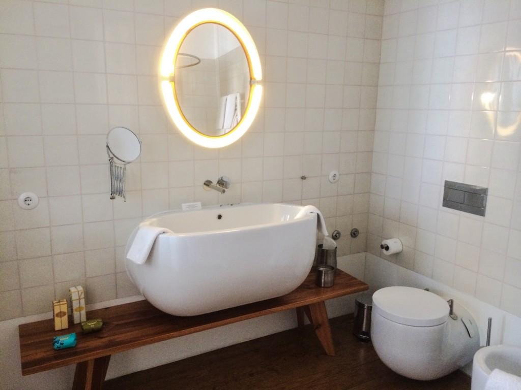 salle de bain suite hôtel Rosa Et Al Townhouse Porto-Portugal