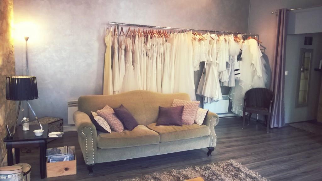 Atelier confidentiel création robes de mariée St Emilion salon essayage