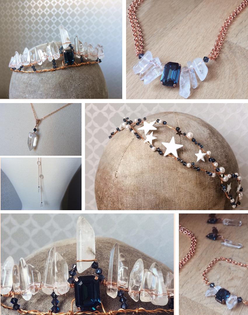 accessoires et bijoux en cristal de roche le blog d 39 h lo se bijoux de mari e conseils. Black Bedroom Furniture Sets. Home Design Ideas
