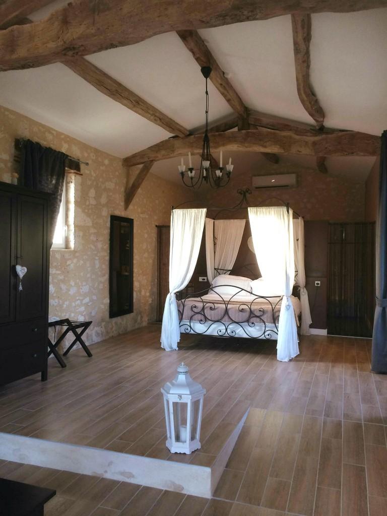 chambre d'hôte romantique gironde grange jaccuzzi