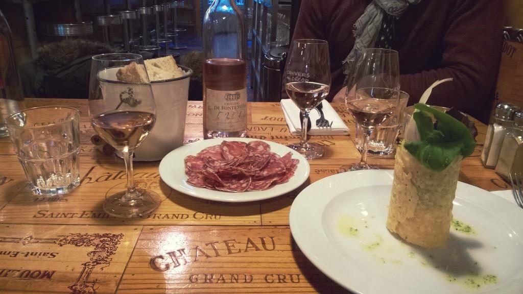 repas restaurant Saint Emilion L'envers du décor