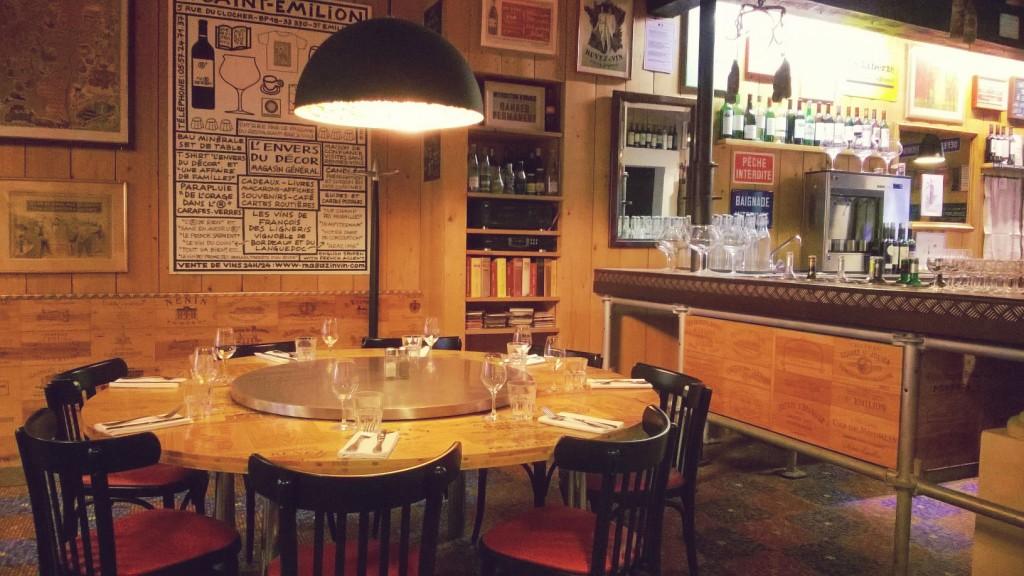 restaurant et bar à vins l'envers du décor St Emilion