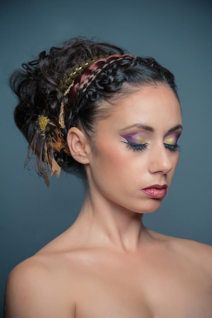 Axelle B. collection haute coiffure 2015 ornement plumes esprit ethnique