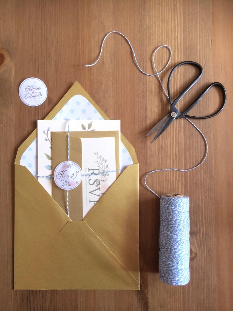 faire part invitation originale mariage champêtre rustique