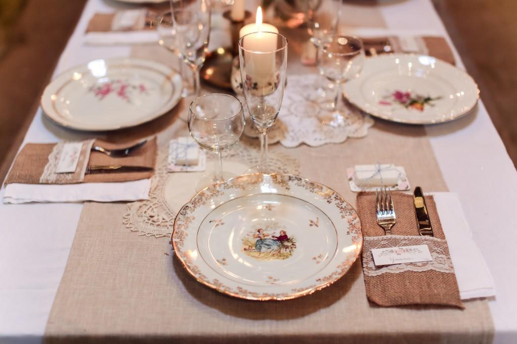 décoration de table porcelaine mariage