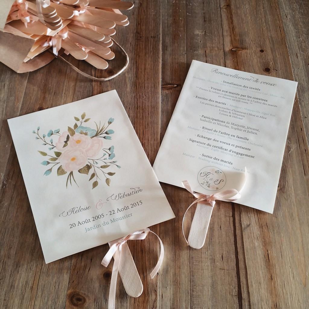 livret cérémonie laïque DIY mariage champêtre