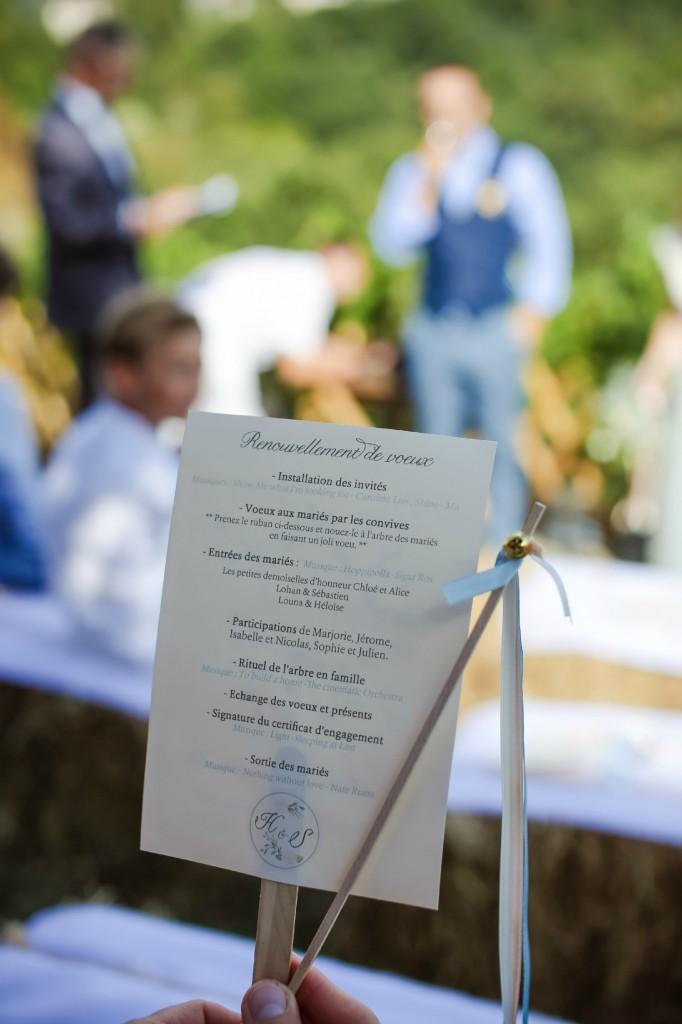 livret cérémonie laïque DIY mariage rustique champêtre
