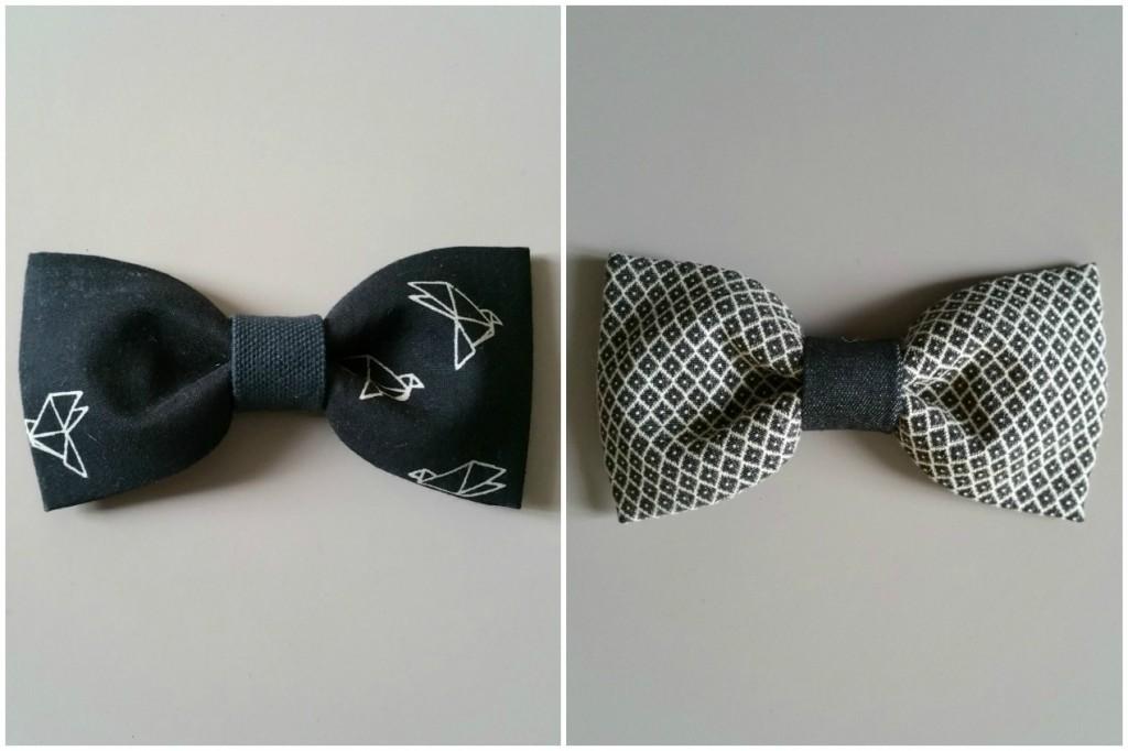 Noeuds papillons homme marié original origami noir