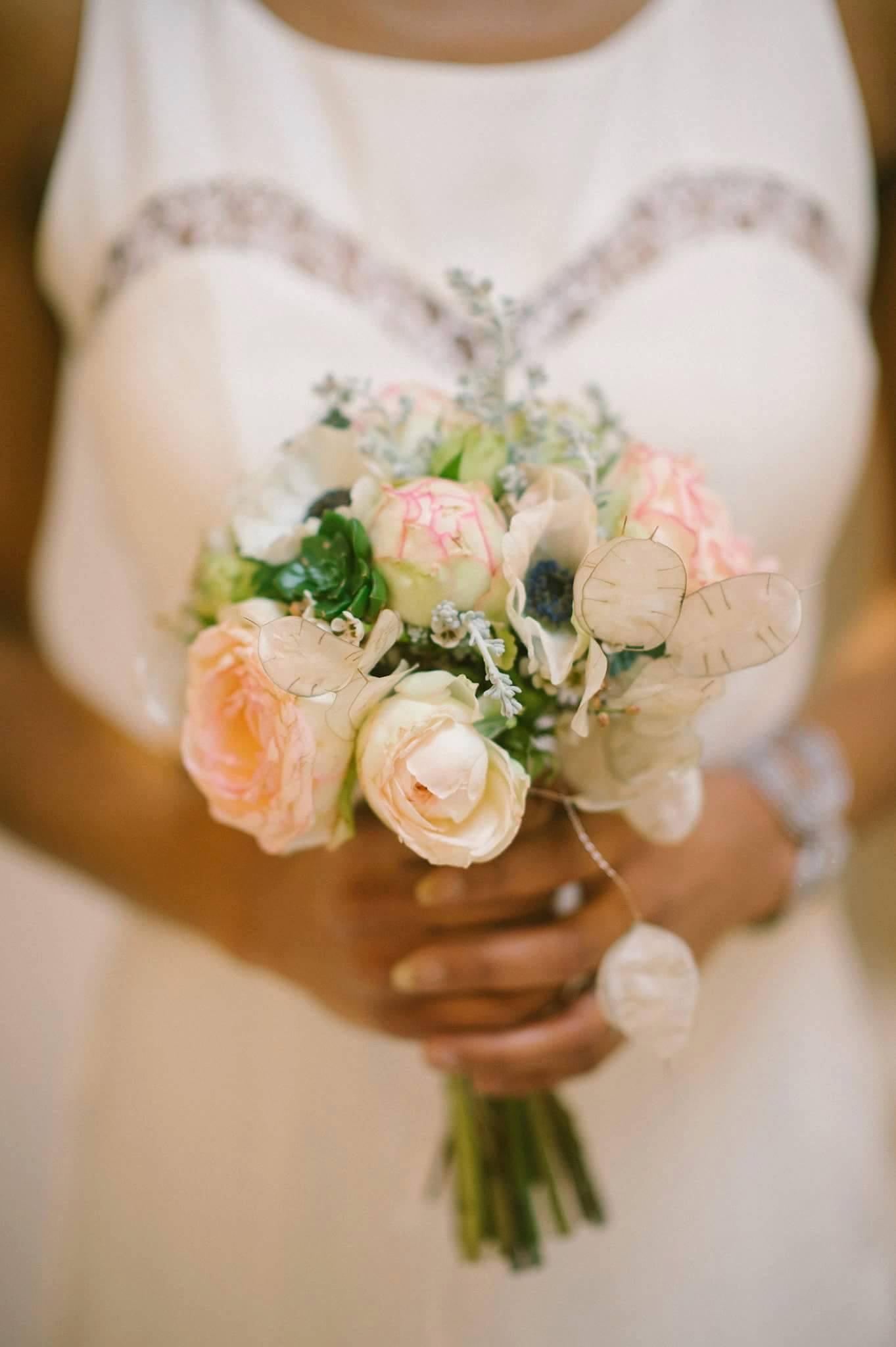 joli bouquet mariée ton pastel