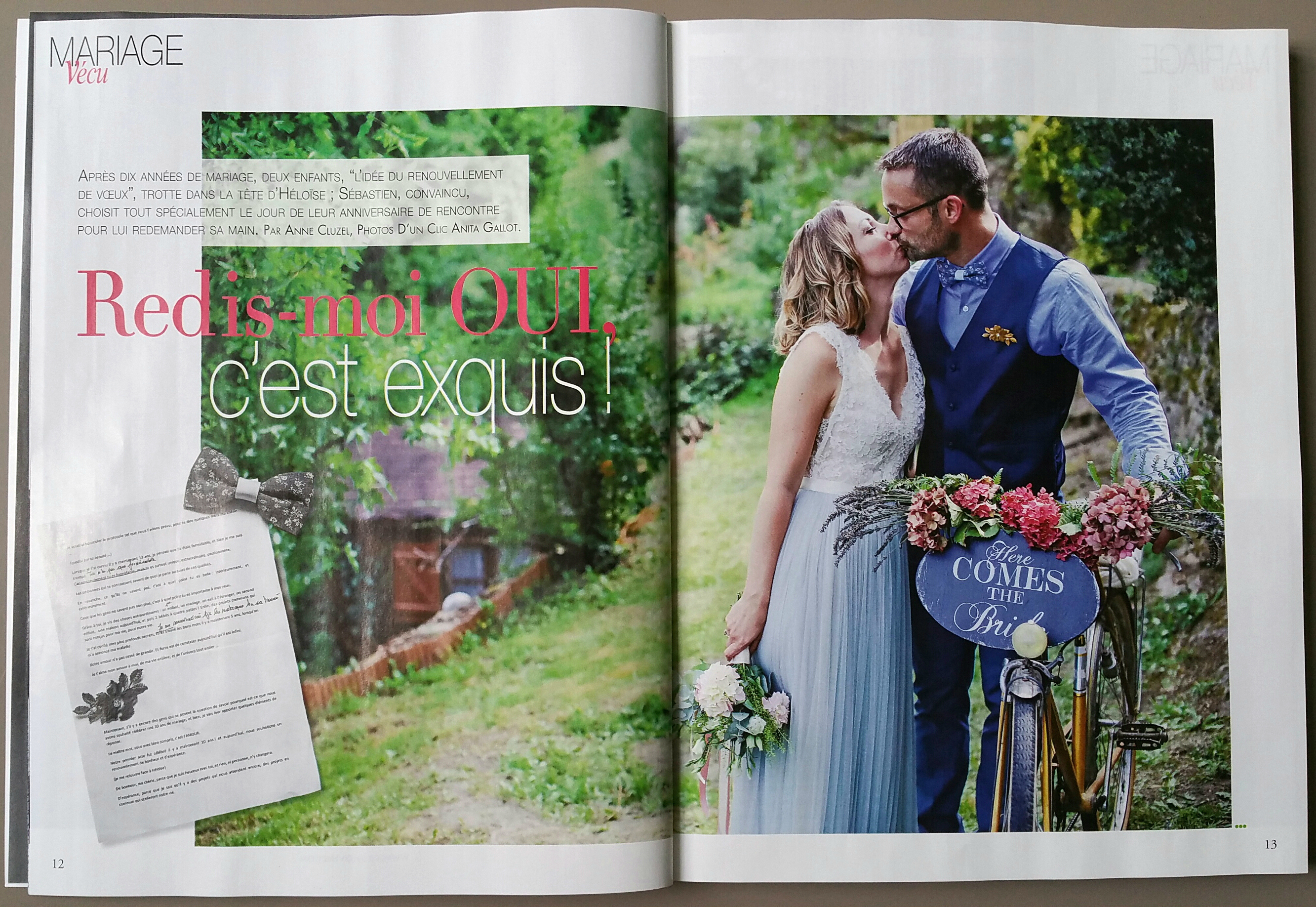 renouvellement de voeux magazine Mariages