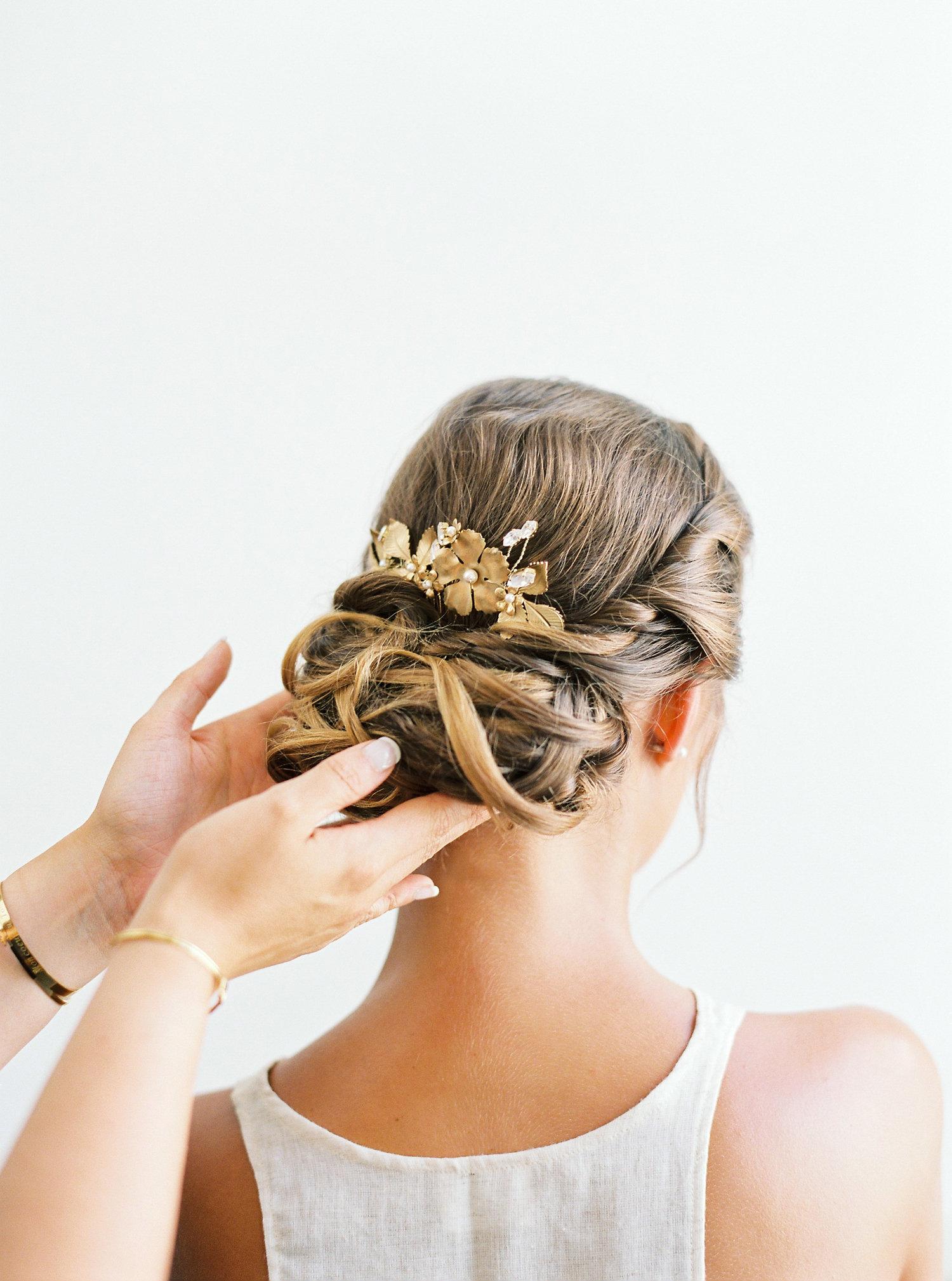 coiffure chignon mariée