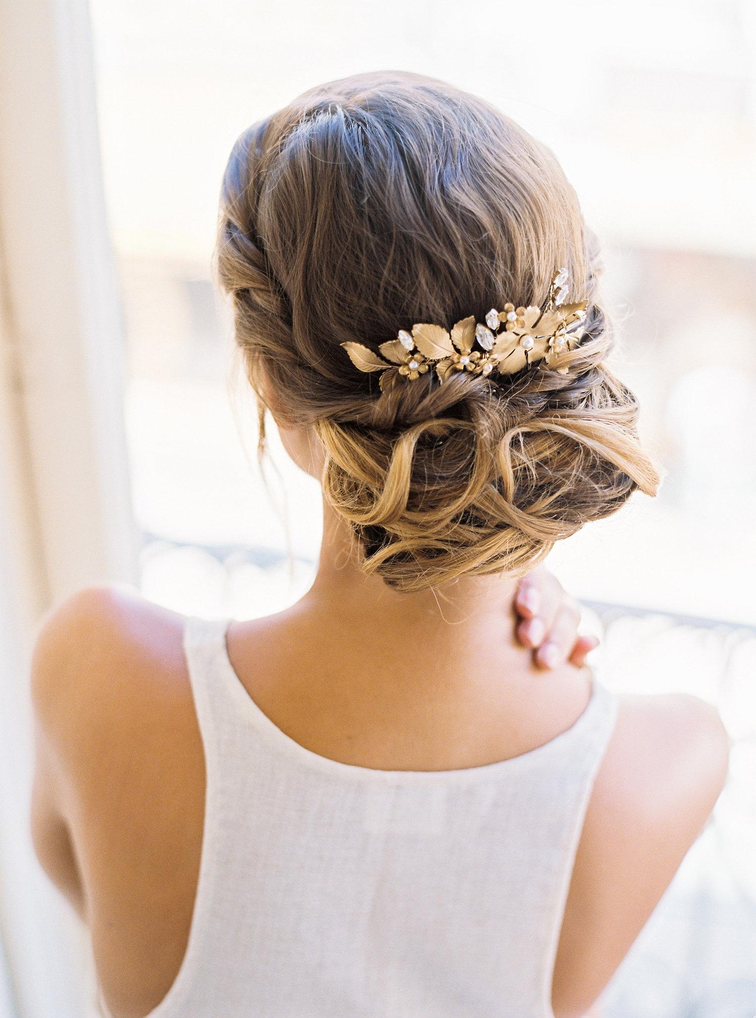 chignon mariage flou affinite beauté - branco Prata