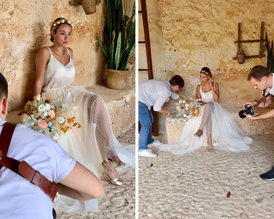 jupe plumetis mariage