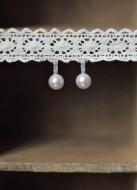 """Boucles d'oreilles mariée """"Violaine"""" avec perles et strass"""