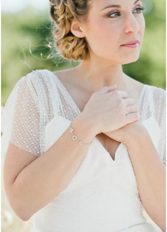 "Bracelet mariage ""Maryline"" avec sertis en cristal"