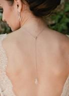 """Bijou de dos """"Amendine"""" pour votre collier de mariée"""