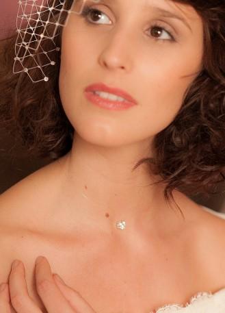 """""""Cristal"""" collier de mariée avec cabochon de cristal"""
