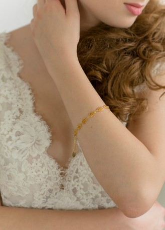 """Bracelet mariage """"Hannah"""" avec jolie maille fantaisie"""