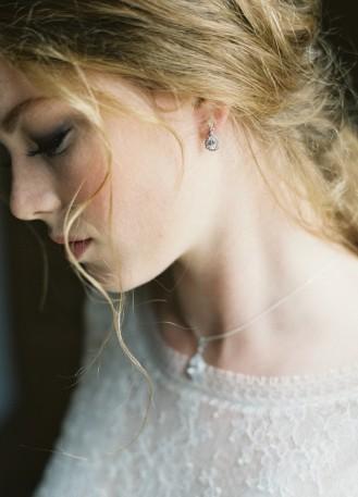 """Boucles d'oreilles mariée """"Victorine"""" avec pendant au charme rétro"""