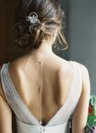 """Bijou de dos """"Ornella"""" pour votre collier de mariée"""